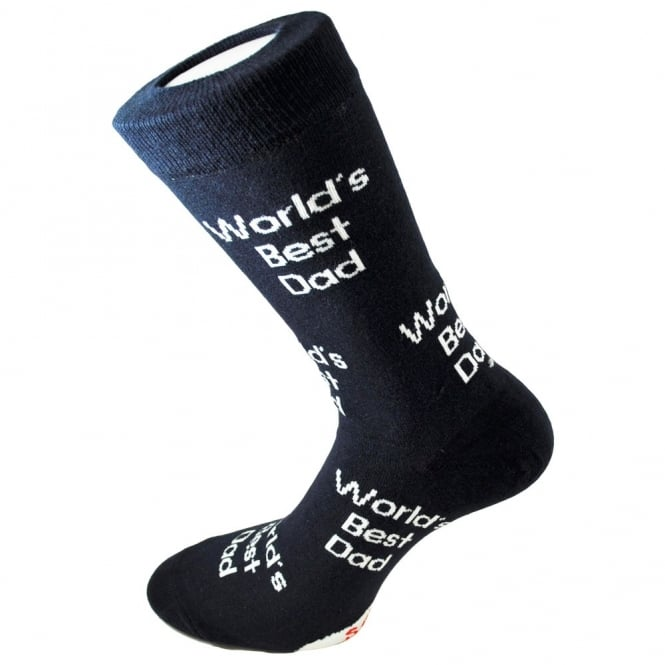 World's Best Dad Navy Men's Novelty Socks