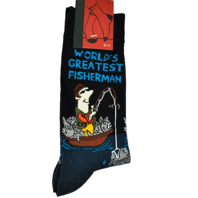 World's Greatest Fisherman Men's Novelty Socks