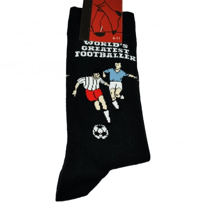 World's Greatest Footballer Navy Blue Football Men's Novelty Socks