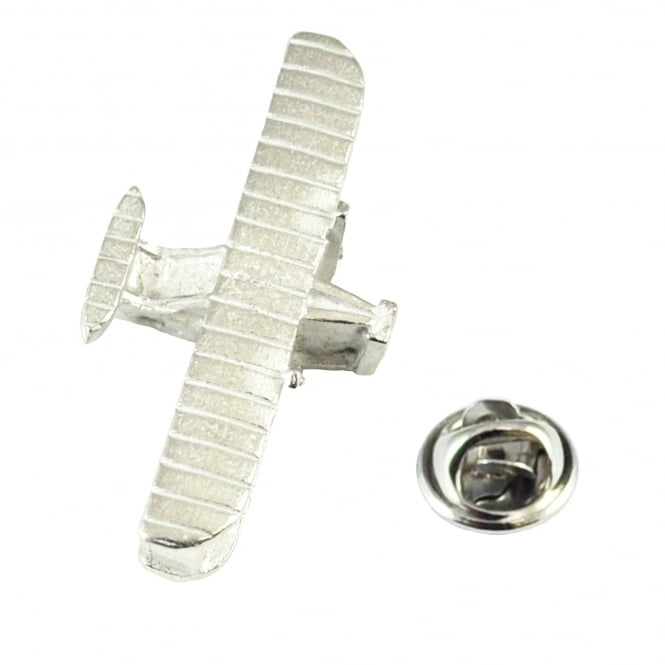 Wright Brothers Flyer Biplane Pewter English Made Lapel Pin Badge