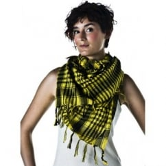 Yellow & Black Shemagh Arab Fashion Scarf
