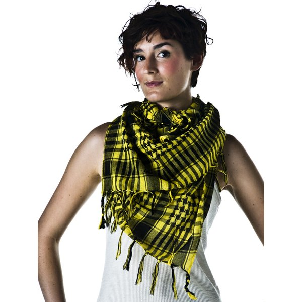 yellow black shemagh arab fashion scarf from ties planet uk