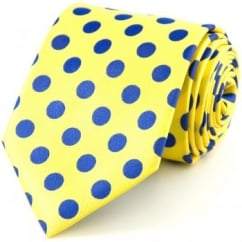 Yellow & Blue Polka Dot Tie