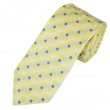 Yellow, Blue & White Patterned Men's Tie
