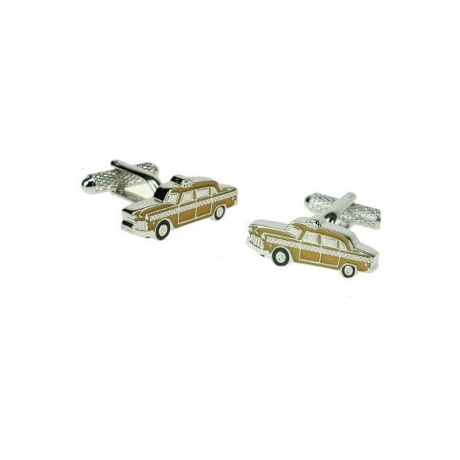 Yellow Cab Novelty Cufflinks