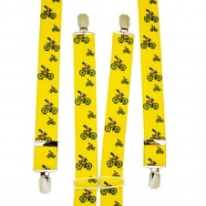 Yellow Cyclist Men's Trouser Braces