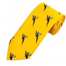 Yellow Flying Pheasant Country Tie