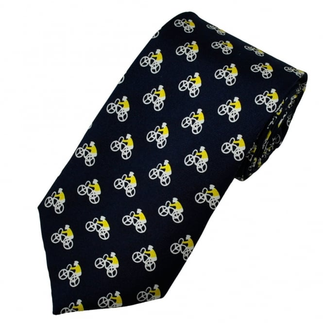 Yellow Jersey Maillot Jaune Cycling Silk Tie