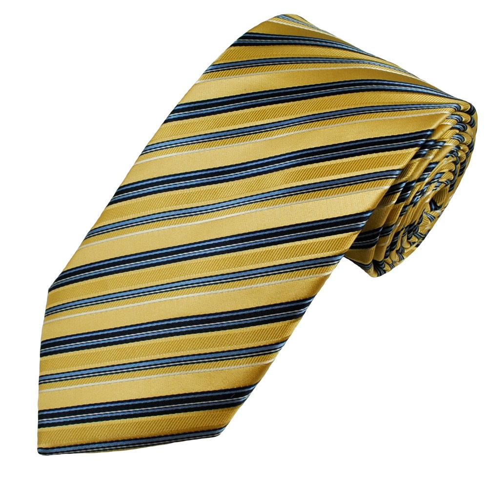 Plus, golden yellow ties match a lot of sport team's colors. You can dress up for game day or show your team pride by matching a yellow tie with a shirt in your team's other team color. A yellow necktie will match plenty of colors.
