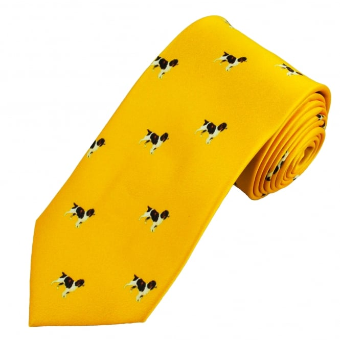Yellow Spaniel Dog Country Tie