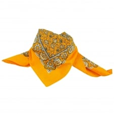 Yellow, White & Black Paisley Patterned Bandana Neckerchief