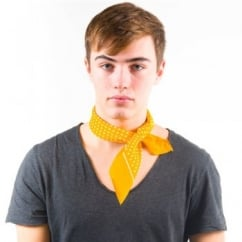 Yellow & White Polka Dot Bandana Neckerchief