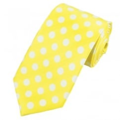 Yellow & White Polka Dot Tie