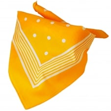 Yellow With White Stripes & Polka Dot Bandana Neckerchief