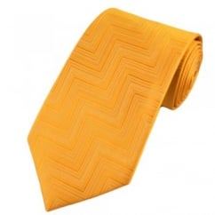 Yellow Zig Zag Chevron Striped Patterned Boys Tie