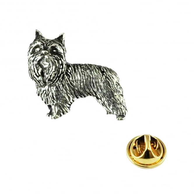 Yorkshire Terrier Dog Pewter Lapel Pin Badge