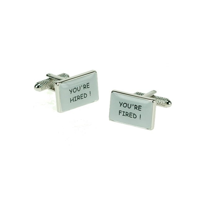 You're Hired/You're Fired Novelty Cufflinks